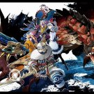 Monster Hunter 1 2 3 4 Game Art 32x24 Poster Decor