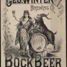 BOCK Vintage Ad Art 32x24 Poster Decor