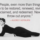 Audrey Hepburn Movie Star Art 32x24 Poster Decor