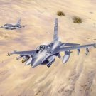 F 16 Fighting Falcon Fighter Art 32x24 Poster Decor