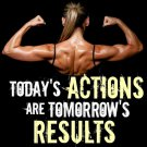 Sexy Girl Bodybuilding Motivational Art 32x24 Poster Decor