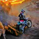 Motocross Dirt Bike Jump Sport Art 32x24 Poster Decor