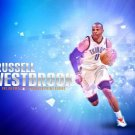 Russell Westbrook Basketball Star Art 32x24 Poster Decor
