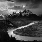 Ansel Adams Grand Teton Art 32x24 Poster Decor