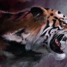 The Angry Tiger Art Art 32x24 Poster Decor Decor