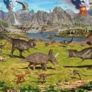 Dinosaur Volcanoes Art Murals Art 32x24 Poster Decor