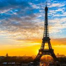 Paris Eiffel Tower Landscape Art 32x24 Poster Decor