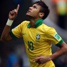Neymar Da Silva Brazil Football Star Art 32x24 Poster Decor