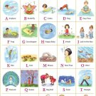 My ABC Alphabet Learn Table Art 32x24 Poster Decor