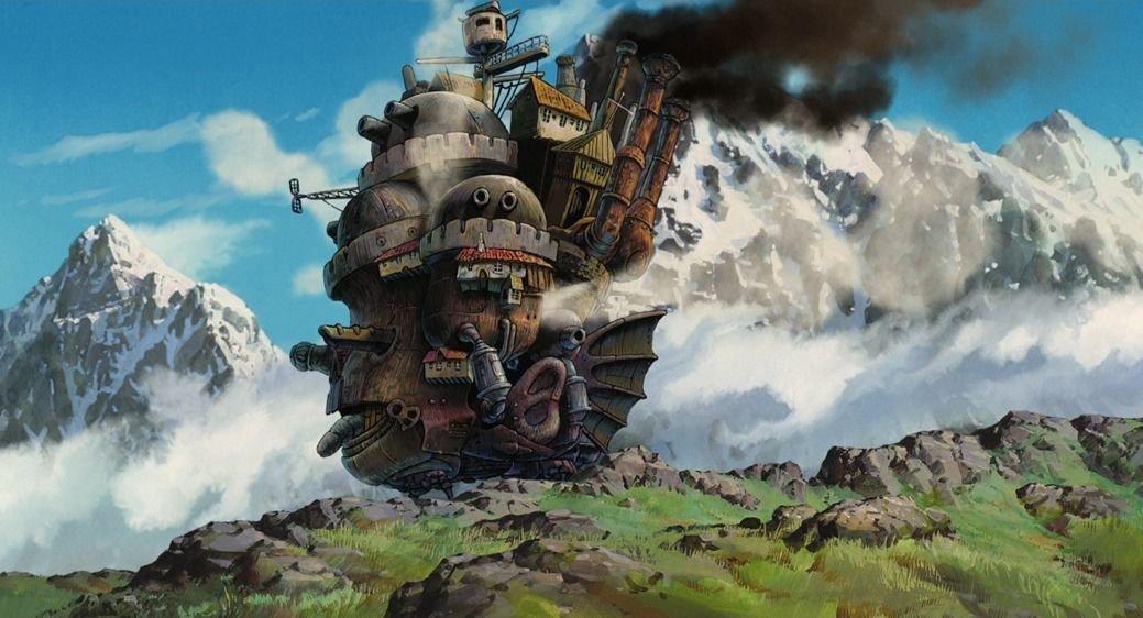 Howls Moving Castle Anime Art 32x24 Poster Decor