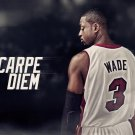 Dwyane Wade Basketball Star Art 32x24 Poster Decor