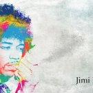 Jimi Hendrix American Guitarist Art 32x24 Poster Decor