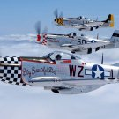 Air Forces WW2 P51 Mustang Art 32x24 Poster Decor