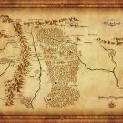 Map Of Middle Earth Lord Of The Ring Art 32x24 Poster Decor