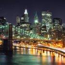 New York City Night Cityscape Art 32x24 Poster Decor