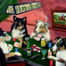 Dogs Playing Poker Vintage Art 32x24 Poster Decor