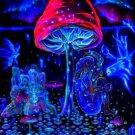 Mushrooms Trippy Art Art 32x24 Poster Decor