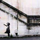 Banksy Street Art Canvas Art 32x24 Poster Decor