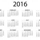 Calendar 2016 Year Wall Print POSTER Decor 32x24