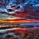 Sunset Sea Beach Landscape Wall Print POSTER Decor 32x24