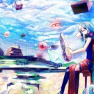 Hatsune Miku Vocaloid Anime Wall Print POSTER Decor 32x24