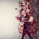 Harley Quinn Batman Arkham City Wall Print POSTER Decor 32x24