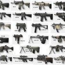 Guns Military Rifles Charts Wall Print POSTER Decor 32x24