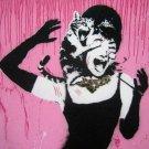 Banksy Street Art Canvas Wall Print POSTER Decor 32x24