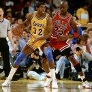 Magic Johnson VS Michael Jordan Basketball Star Wall Print POSTER Decor 32x24