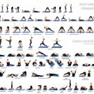 Yoga Ashtanga Wall Print POSTER Decor 32x24