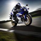 Yamaha R1 Speed Motorcycle Wall Print POSTER Decor 32x24