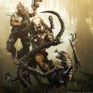 Aliens VS Predator Game Wall Print POSTER Decor 32x24