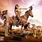 Art Design Girl Native Warrior Women Wall Print POSTER Decor 32x24