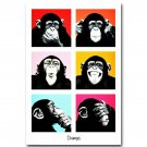 The Chimps Funny Monkey Faces Poster 32x24