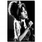 Amy Winehouse Music Singer Star Art Poster Black White 32x24