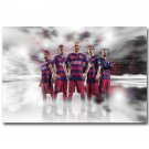 Lionel Messi Neymar Barcelona Soccer Sport Poster Print 32x24