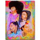 Music Legend Wiz Khalifa Bob Marley Art Poster 32x24