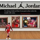 Michael Jordan Dunks Basketball Sports Art Poster 32x24