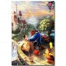 Beauty And The Beast 1991 Cartoon Movie Art Poster 32x24