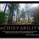 Achievability Motivational Quotes Art Poster 32x24