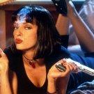 Pulp Fiction Classic Movie Art Wall Poster Mia Smoking 32x24