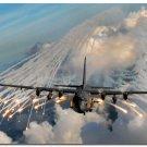 AC 130H Spectre Aircraft Art Poster Military Fans Wall Decor 32x24