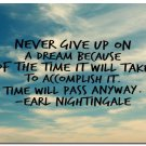Never Give Up Inspirational Quote Art Poster School Modern Office Decor 32x24