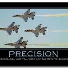 PRECISION Motivational Quotes Art Poster 32x24