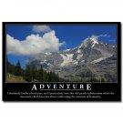 ADVENTURE Motivational Quotes Art Poster 32x24