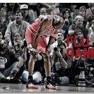 Michael Jordan Dunks Basketball Sports Art Poster 32x24