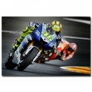 Valentino Ross MotoGP Riders Star Sports Art Poster 32x24
