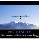 No Limits Inspirational Quote Art Poster School Modern Office Decor 32x24