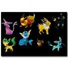 Eevee Pokemon Pikachu Anime Art Poster Pictures 32x24