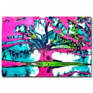 Psychedelic Trippy Tree Abstract Art Poster 32x24